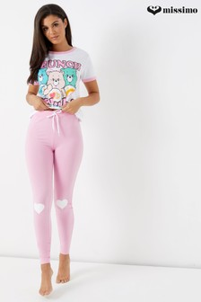 Missimo Care Bears Brunch Club Pyjama-Set mit Leggings