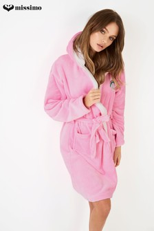 Missimo Nightwear Rainbow Bear Care Bear Hooded Fleece Robe