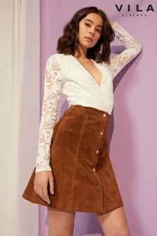 Vila Long Sleeve Lace Bodysuit
