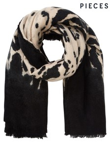 Pieces Animal Print Scarf