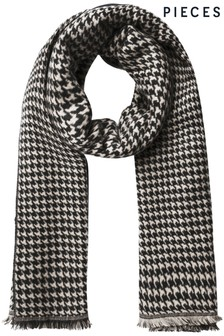 Pieces Houndstooth Scarf