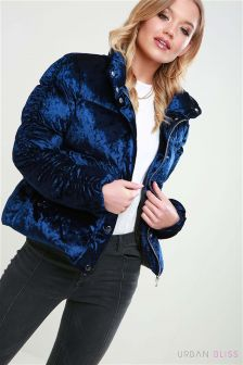 Urban Bliss Crushed Velvet Padded Jacket