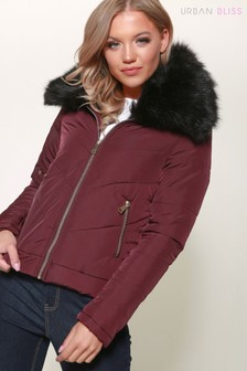 Urban Bliss Zip Front Padded Jacket