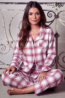 Pijama abrigado de invierno de cuadros de Pour Moi