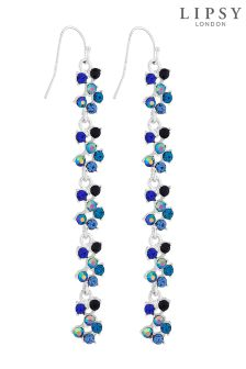 Lipsy Crystal Linear Drop Earrings