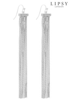 Lipsy Pave Bar Slinky Chain Drop Earrings