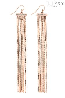 Lipsy Pave Bar Slinky Chain Drop Earring