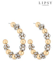 Lipsy Pave Ball Hoop Earrings