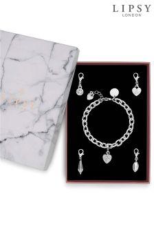 Lipsy Crystal Charm Bracelet