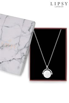 Lipsy Spinning Disc Gift Necklace