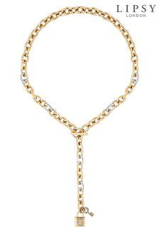 Lipsy Padlock Charm Lariat Necklace