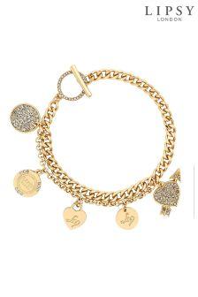 Lipsy Crystal Pave Charm Bracelet