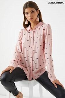 Vero Moda Petite Lip Print Long Sleeve Shirt