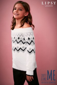 Lipsy Girl Fairisle Off The Shoulder Jumper
