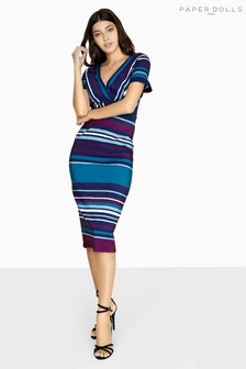 Paper Dolls Stripe Midi Dress