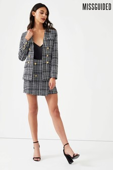 Missguided Boucle Military Blazer