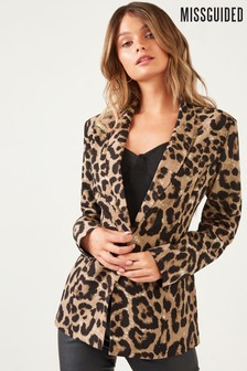 Missguided Leopard Print Blazer