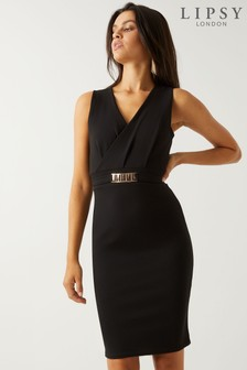 Lipsy Metal Trim Bodycon Dress