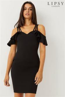 Lipsy Cold Shoulder 2 Strap Bodycon Dress