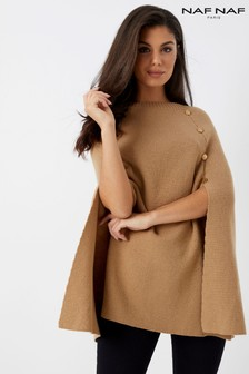 Naf Naf Embellished Cape Sweater