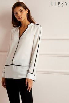 Lipsy Contrast Piping Blouse