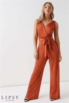 Lipsy Slinky V neck Wide Leg Jumpsuit