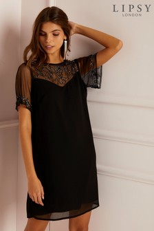 Lipsy Embellished Shift Dress