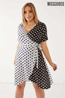 Missguided Curve Polka Dot Dress