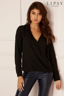 Lipsy Collar Wrap Blouse