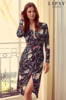 Lipsy Nova Print Twist Bodycon Dress