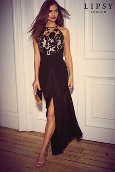 Lipsy Sequin Built Up Maxi Dress