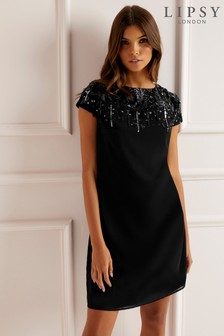 Lipsy Sequin Scatter Shift Dress