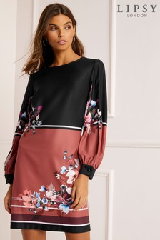 Lipsy Kia Border Print Shift Dress