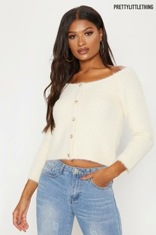 PrettyLittleThing Fluffy Bardot Jumper