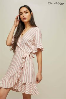 Miss Selfridge Striped Frill Dress