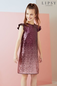 Lipsy Girl Ombre Sequined Shift Dress
