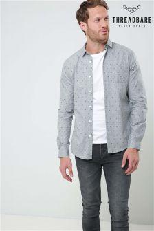 Threadbare Long Sleeve Geometric Shirt