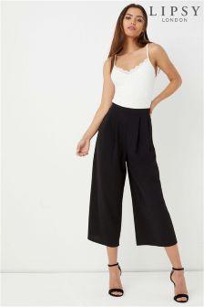 Lipsy Petite Pleat Front Culotte Trouser
