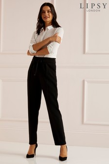 Lipsy Petite Metal Trim Tapered Trouser
