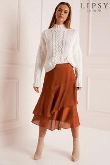 Lipsy Ruffle Asymmetric Skirt