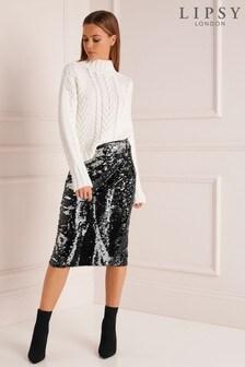Lipsy Sequin Midi Skirt