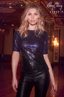 Abbey Clancy x Lipsy Ombre Sequin Tee