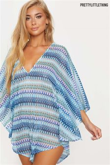 PrettyLittleThing Chevron Knit Beach Coverup