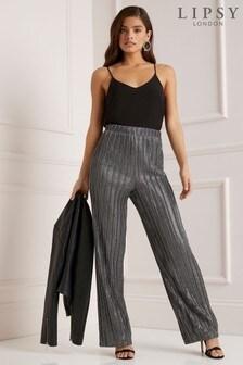 Lipsy Metallic Plisse Trouser
