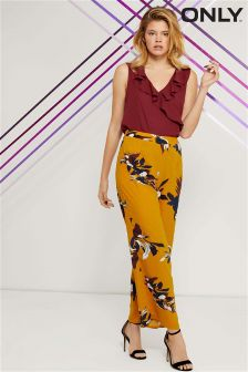Only Floral Print Palazzo