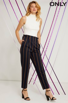 Only High Waist Stripe Trouser