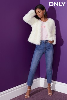 Only Straight Stretch-Jeans mit hoher Taille