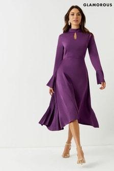 31bc27a8c0ee Buy Women s dresses Partywear Partywear Midi Midi Purple Purple ...