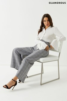 Glamorous Studio High Waisted Check Trousers