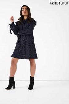 Fashion Union Spot Print Shift Dress